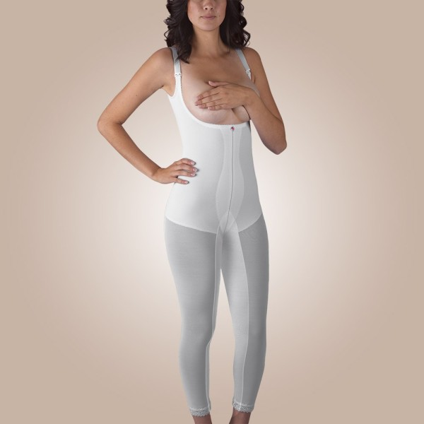 Below-Knee Molded Buttocks High-Back Girdle, Non-Zippered