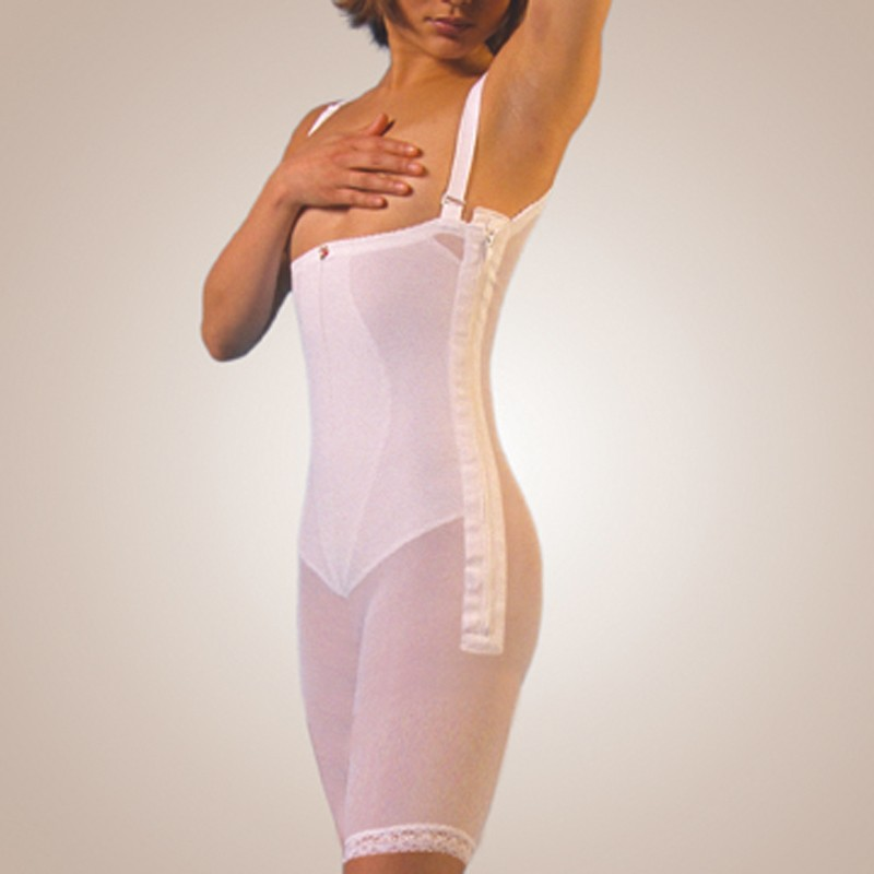High-Back Body Girdle, Zippered