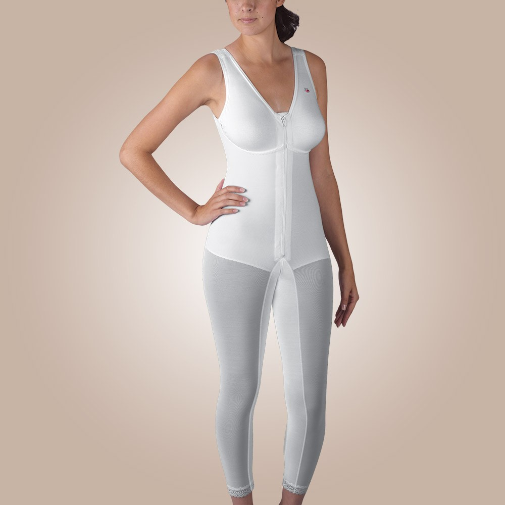 Below-Knee Molded Buttocks High-Back Girdle with Bra, Zippered